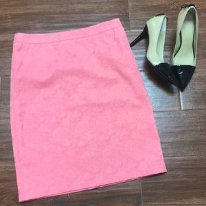 Coral pencil skirt size small or size 4